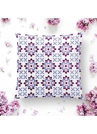 Real Homes Modern Çiçek Resimli Dijital Baskılı Dekoratif Yastık Kılıfı Renkli